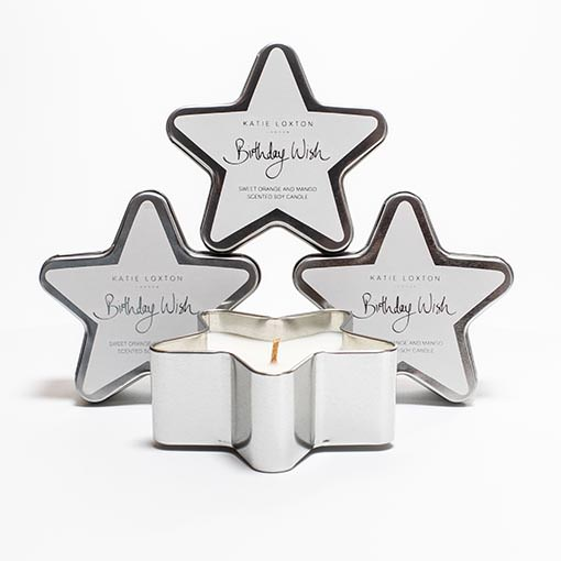 Candles in gift tins